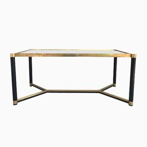 Mid-Century Italian Lacquered Metal and Brass Dining Table, 1960s