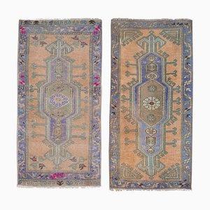 Türkische Handgewebte Ouschak Wollmatten oder Läufer, 1970er, 2er Set