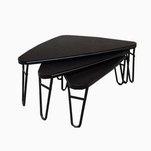 Tavolini a incastro modello 519 Petalo di Charlotte Perriand per Cassina, Italia, anni '50