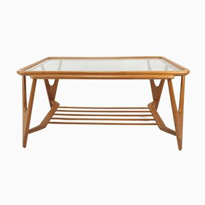 Mid-Century Italian Walnut Coffee Table in the Style of Cesare Lacca for Cassina, 1950s