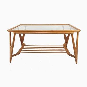 Table Basse Mid-Century en Noyer Style Cesare Lacca pour Cassina, Italie, 1950s