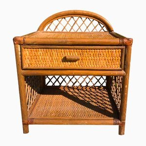 Rattan Nightstands, 1980s, Set of 2