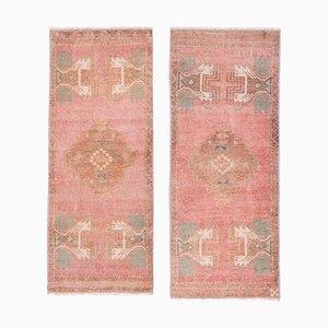Türkische Vintage Oushak Yastik Scatter Teppiche, 1970er, 2er Set