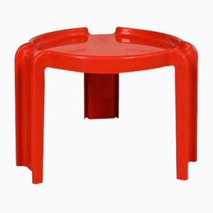 Red Side Table by Giotto Stoppino for Kartell, 1970s