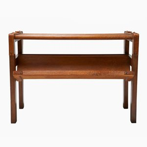 Oak Book Table by Jacques Adnet
