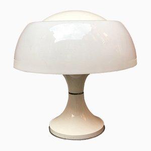 Italian Metal Base and Plexiglas Table Lamp, 1970s