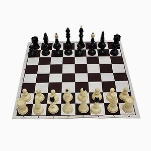Austrian Black and White Chess Set, 1970s