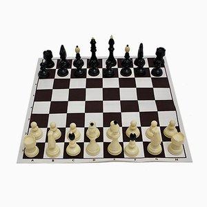 Austrian Black and White Chess Set, 1970s