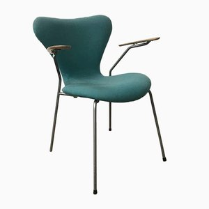 Turquoise Model 3207 Butterfly Armchairs by Arne Jacobsen for Fritz Hansen, 1990s, Set of 8