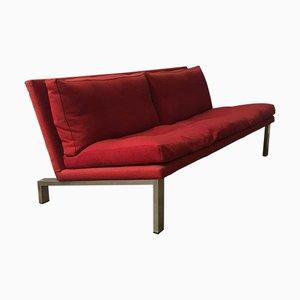 Sofá con base en rojo de cromo de Dick Looman para Bas Van Pelt, años 70