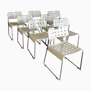 Weißer Omk-Stack Stuhl von Rodney Kinsman für Bieffeplast, 1980er