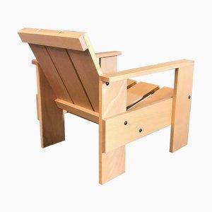 Nr Bois Chaise 60 Crate par Gerrit Rietveld pour Rietveld par Rietveld, 2000s