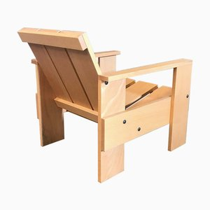 Wooden Nr. 60 Children Crate Chair by Gerrit Rietveld for Rietveld by Rietveld, 2000s