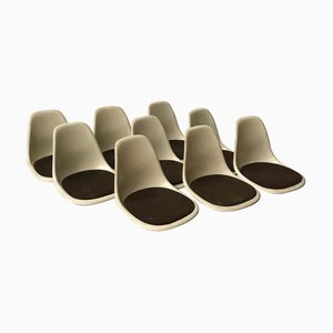 DSS Fiberglas Dining Chairs by Charles & Ray Eames for Herman Miller, 1970s, Set of 9
