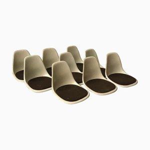 Sedie da pranzo DSS in fibra di vetro di Charles & Ray Eames per Herman Miller, anni '70, set di 9
