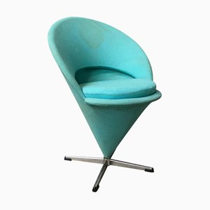 Turquoise Fabric Cone Chair by Verner Panton for Rosenthal, 1970s