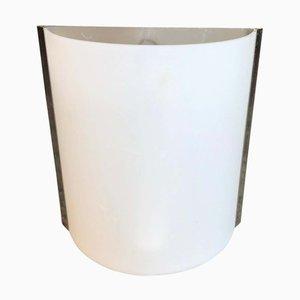Applique industriale in vetro opalino, anni '60