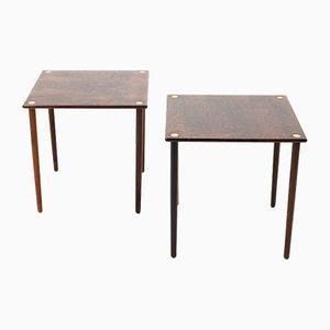 Tables d'Appoint Mid-Century, Danemark, 1950s, Set de 2