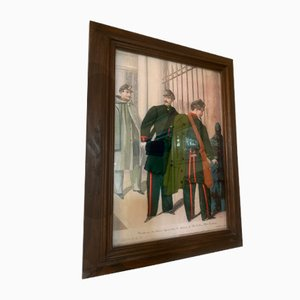 Antique Framed Lithograph