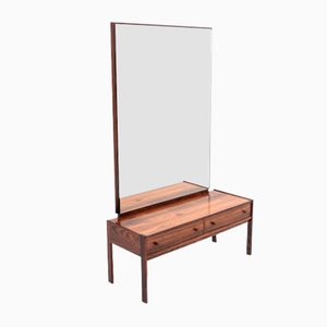 Rosewood Mirror with Commode, 1960s