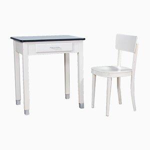 Esstisch & Stühle Set, 1950er, 2er Set