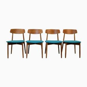 Chaises de Salon Mid-Century en Chêne par Harry Østergaard pour Randers Møbelfabrik, Set de 4