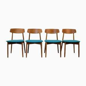 Mid-Century Oak Dining Chairs by Harry Østergaard for Randers Møbelfabrik, Set of 4