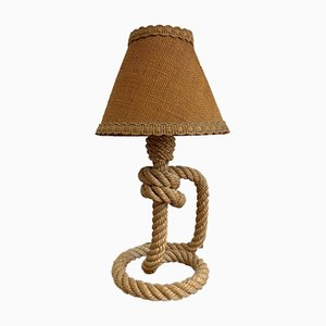 Rope Table Lamp by Adrien Audoux & Frida Minet, 1940s