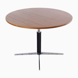 Mid-Century Round Adjustable Dining Table by JM Thomas for Wilhelm Renz, 1960s