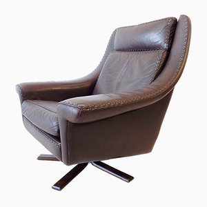 Leather Matador Chair by Aage Christiansen for Erhardsen & Andersen, 1960s