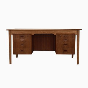 Vintage Danish Oak Desk, 1970s