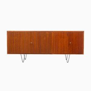 Teak Sideboard with Fluted Doors, 1960s