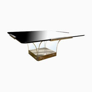 Vintage Lucite and Glass Square Coffee Table
