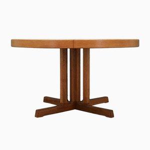 Mid-Century Ash Veneer Danish Dining Table by Johannes Andersen, 1970s