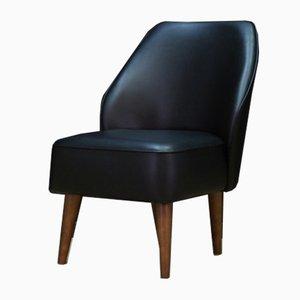 Danish Eco Leather Lounge Chair, 1980s