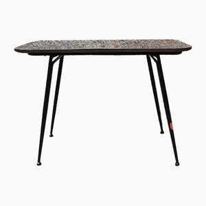 Italian Black Laminate and Metal Rod Folding Coffee Table, 1960s