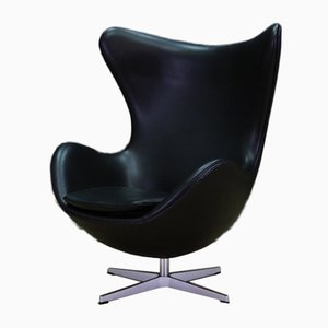 Danish Leather Armchair by Arne Jacobsen for Fritz Hansen, 2007