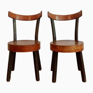 Beistellstühle im Stil von Lajos Kozma von Szék és Faárugyár Rt, 1930er, 2er Set