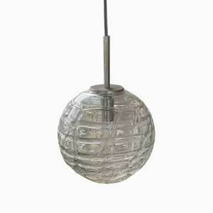 Glaskugel Deckenlampe, 1970er