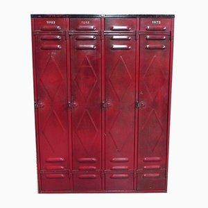 Industrial Steel Locker with 6 Doors from Fata, 1950s