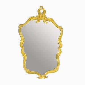 Rococo Style Gilt Bronze Wall Mirror, 1950s