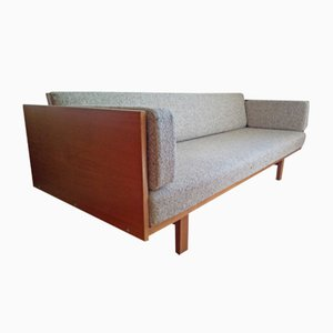 Mid-Century Oak Veneer Sofa Daybed by Hans J. Wegner for Getama