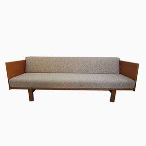 Mid-Century Teak Veneer Sofa Daybed by Hans J. Wegner for Getama
