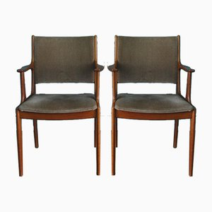 Mid-Century Teak Dining Chairs by Erik Buch, 1960s, Set of 2
