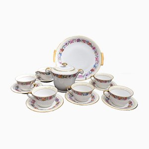Antique French Porcelain Tea Set by Marc Larcheveque