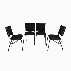 Italian Dining Chairs in the Style of BBPR, 1950s, Set of 4
