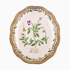 Royal Copenhagen Flora Danica Pierced Dish in Hand-Painted Porcelain, 1947