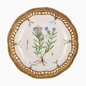 Royal Copenhagen Flora Danica Pierced Plate in Hand-Painted Porcelain, 1940s