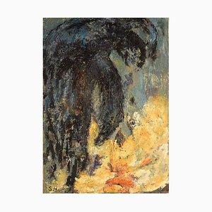 Abstrakte Abstrakte Ölgemälde auf Dänisch von Sonja Henningsen, 1970er