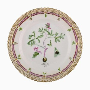 Royal Copenhagen Flora Danica Plate in Hand-Painted Porcelain, 1949